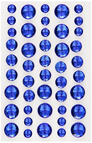 Doodlebug Adhesive Jewels 45/Pkg-Blue Jeans