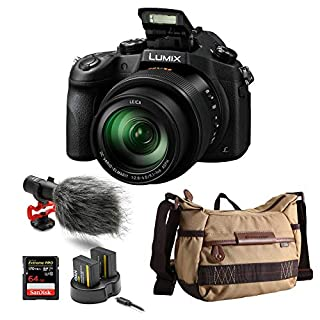 Panasonic LUMIX DMC-FZ1000 Digital Camera with Condenser Microphone and Bag Bundle