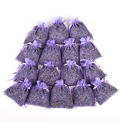 MISSYOUNG 16-Pack Lavender Scented Sachets Drawers, Cabinets, Wardrobes, Pillows, Cars Natural Fragrance