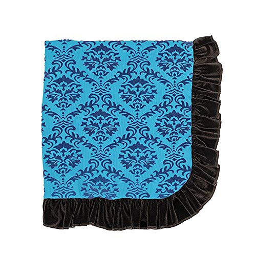 Haute Baby Purrfect Boutique Receiving Blanket Royal Blue