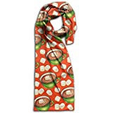 Cocoa Christmas Oblong Warm Women Scarf Artist For Handbag Accessories Teen Scarves