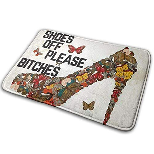 - FunnyCustom Doormat Colorful High Heels Personalized Non Slip Water Absorption Mats for Kitchen