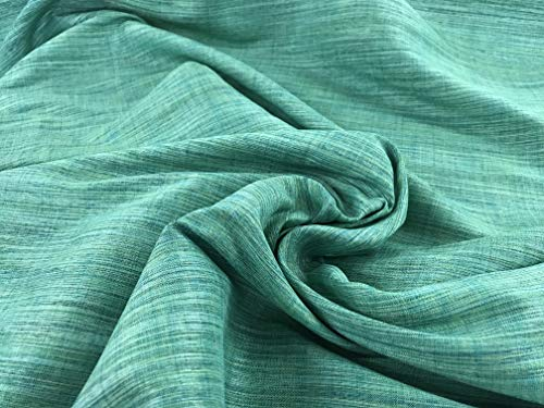 (Amornphan 44 Inches Rayon Stripe Synthetic Faux Silk Dupioni Fabric for Wedding Dress Skirt Bridesmaid Drape Suits Shirt by The Yard (Green))