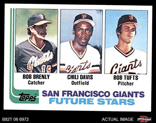 1982 Topps # 171 Giants Rookies Bob Tufts/Chili Davis/Bob Brenly San Francisco Giants (Baseball Card) Dean's Cards 8 - NM/MT Giants