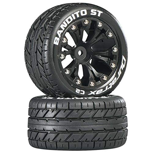 Duratrax DTXC3542 Bandito RC Staduim Truck Tires with Foam Inserts, C2 Soft Compound, ST 2.8