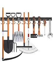 Muur Mount Tool Organizer 64 Inch Verstelbaar Opbergsysteem Tool Hangers voor Mop en Bezem Houder Schep, Hark, Bezem