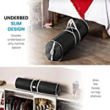 Premium Christmas Wrapping Paper Storage Bag - Fits 20 Rolls & Ribbon Holder, 46-Inch- Underbed Xmas Organizer With Gift Wrap Accessory Box, Dual Zips & Carry Handles, Tear Proof 600D- 5 Year Warranty