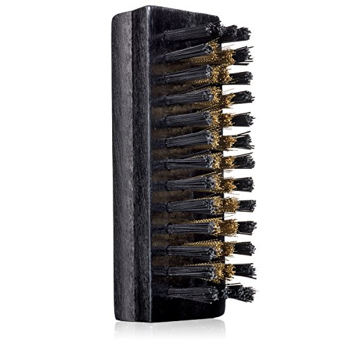 Trolleycar Small Suede Brush with Brass Bristles | Cleans, Softens, and Restores Texture of Nubuck Leather and Suede