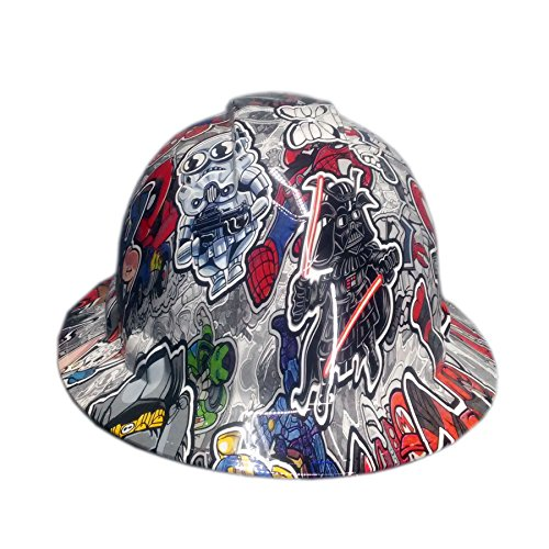 Full Graphics Hard Hat - Izzo Graphics Twisted Toons Pyramex Ridgeline Full Brim Hard Hat