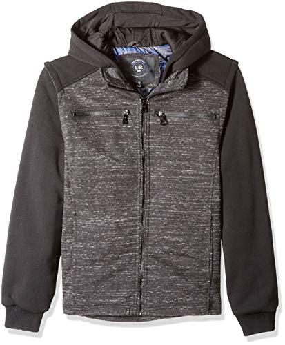 Urban Republic Mens Melange Jersey Jacket, Black, M
