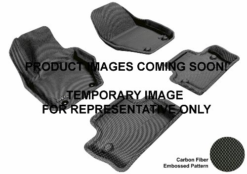 3D MAXpider Front Row Custom Fit All-Weather Floor Mat for Select Cadillac ATS Models - Kagu Rubber (Black)