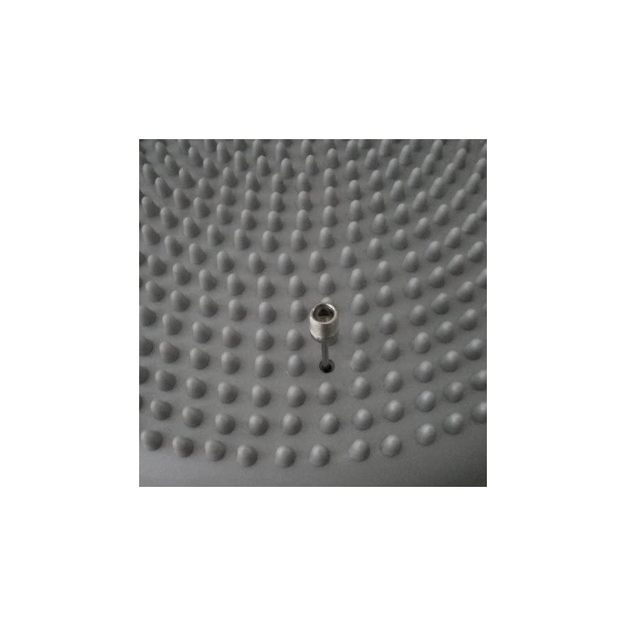 AppleRound Air Stability Wobble Cushion, Sliver Grey, 35cm/14in Diameter, Balance Disc, Pump Included