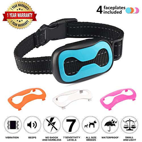 Dog Bark Collar- Humane Dog Training Collar with Safe Vibration, No Shocks, Beep, Adjustable Barking Collar for Small, Medium Large Dogs No Shock Safe Dog Training Device