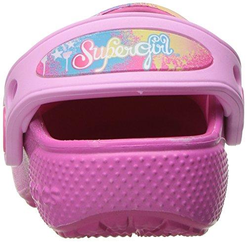 Crocs - Girls '- funlab Supergirl Clog, EUR: 30-31, Candy Pink