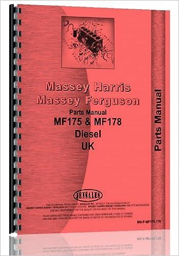 Massey Ferguson 175 Tractor Parts Manual UK Version
