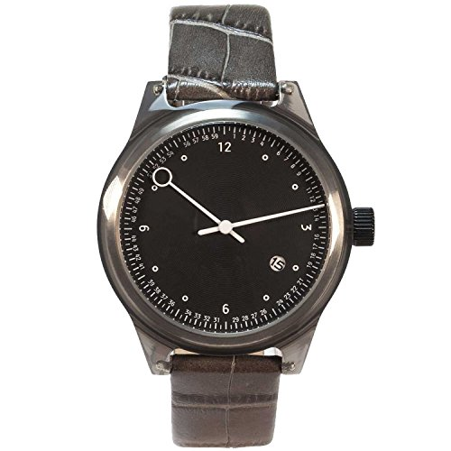 Squarestreet SQ03-A-08 Mens Minuteman Watch, One Hand, Horn (Offwhite)