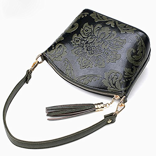 Black Shoulder Small Evening Bag Bags Tassels Crossbody Gray Flowers Bags Fashion Bag Handbags Womens Vintage ZqPYOFz