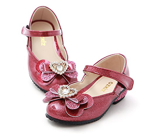 pink Dress Girls Ozkiz Jane Shoes Flats With Mary Ribbon Little S261 slip Anti q7H4gU