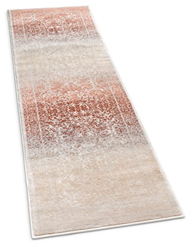 Well Woven KE-20 Kensington Melange Copper Modern Oriental Medallion Vintage Distressed Rust Area Rug 2'7