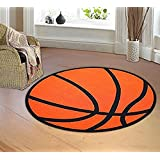 "Furnishmyplace Baseball Ground Kids Rug Size: 3'3"" Basketball Round"