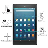 Fire HD 8 Screen Protector,ELECVELON High Definition Anti Scratch Tempered Glass Screen Protector for Fire HD 8 Tablet (2 Pack)