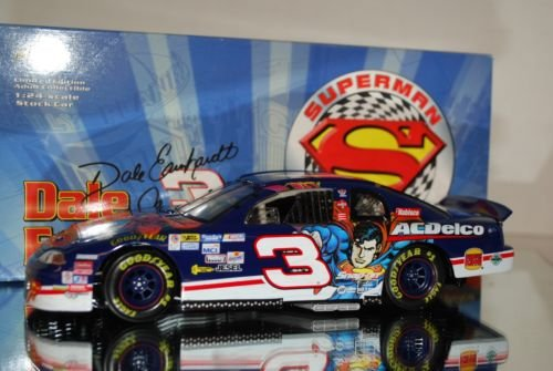 1999 Dale Earnhardt Jr #3 AC Delco Superman 1/24 Scale Diecast Action Racing Collectables ARC Hood, Trunk Opens HOTO Limited Edition