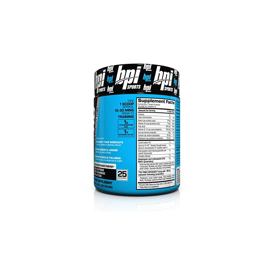 BPI Sports Pump HD Pre Training Power and Energy Fuel Powder