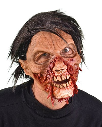 Zagone Torn-a-Part Mask, Male Zombie Bloody with Torn Skin -