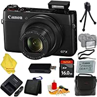 Canon PowerShot G7 X Digital Camera + Case+16 GB Card+Reader + 6pc Starter Set