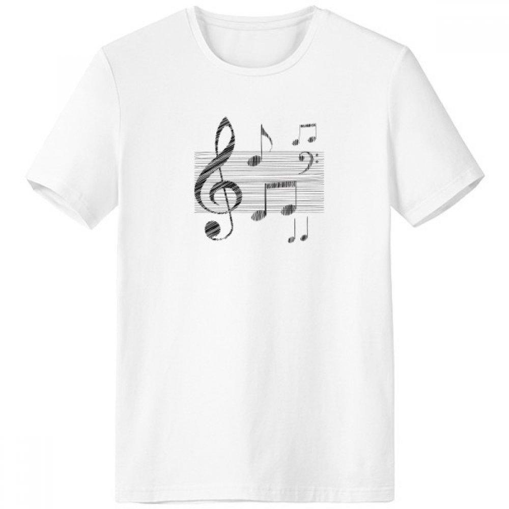 DIYthinker Hermosa clásica Música Modelo Simple de Cuello rojoondo Camiseta Blanca de Manga Corta Comfort Deportes Camisetas Regalo sku00525017b3443f30632-S