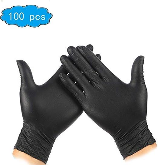 100 Disposable Nitrile Gloves  XS S M L XL Slip Resistant Powder Latex Free