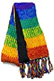 Three Cranes Gallery Men's Wool Scarf - Rainbow Stripe