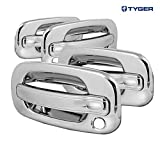 2001 chevy suburban door panel - TYGER ABS Triple Chrome Plated Door Handle Cover Fits 02-06 Cadillac Escalade/Chevy Avalanche/00-06 Tahoe/Silverado/Suburban 99-06 GMC Sierra/00-06 Yukon 4 Doors No Keypad With Passenger Keyhole