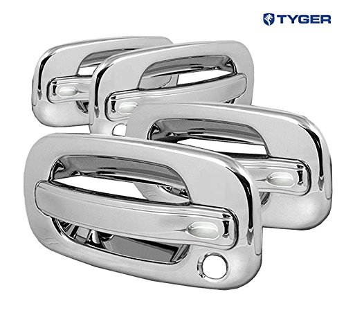 Amazon.com: TYGER ABS Triple Chrome Plated Door Handle Cover 02 06 Cadillac  Escalade/Chevy Avalanche/00 06 Tahoe/Silverado/Suburban 99 06 GMC  Sierra/00 06 ...