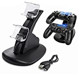 Sminiker PS4 Controller Charger Dock, LED Dual USB PS4 Charging Stand Station Cradle for Sony Playstation 4 Gaming Control with LED Indicator For Sale