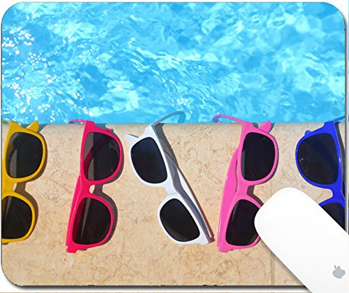 Luxlady Mouse Pad Natural Rubber Mousepad 9.25in X 7.25in IMAGE: 30690352 Colorful sunglasses in the row by the - Sunglasses Image Online