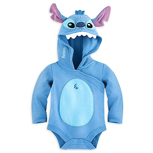 Easy Stitch And Lilo Costumes (Disney Stitch Bodysuit Costume Baby 3-6 Months)