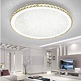 Ladiqi Crystal Round LED Flush Mount Ceiling Light