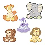 Big Dot of Happiness Zoo Crew - DIY Zoo Animals Shaped Baby Shower or Birthday Party Cut-Outs - 24 Count