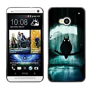A-type Arte & diseño plástico duro Fundas Cover Cubre Hard Case Cover para HTC One M7 (Totoro)