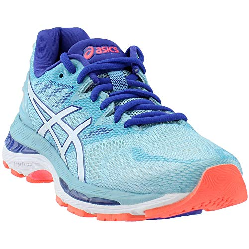 ASICS Women's Gel-Nimbus 20 Running Shoe, porcelain blue/white/asics blue, 10 Medium US