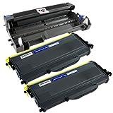 PTA Brand DR-420 w/ 2pk TN-450 Drum and Toner Cartridge Combo for Brother Printer DCP-7060D DCP-7065DN HL-2230 HL-2240 HL-2240D HL-2270DW MFC-7360N Black 12,000 (drum) 2,600 (toner) pages, Office Central