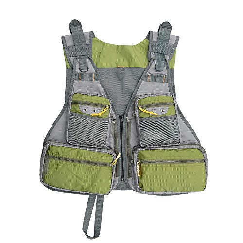 Fly Mesh Fishing Vest, Pockets Jacket, Fishing Hunting Waistcoat, Outdoor Quick-Dry Net Vest, Travel Photography Vest with Adjustable Size for Men and Women