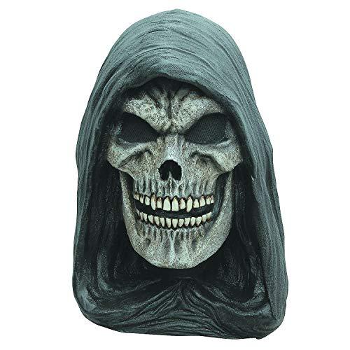 Fun Express - Grim Reaper Latex Mask for Halloween - Apparel Accessories - Costume Accessories - Masks - Halloween - 1 Piece -