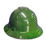 Izzo Graphics Green Carbon Fiber Full Brim Hard Hat