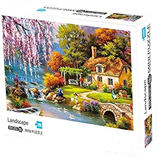 Puzzles 1000 Pieces for Adults Kids   VteePck Landscape Jigsaw Puzzles Graden   Funny Family Games, Home Decoration 16x12 inch Mini Puzzle