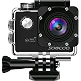 WIFI Action Camera, SOOCOO Sports Video Camera Waterproof 12MP Full HD 1080P 2.0 LCD 170 degree Wide Angle, 30M/98ft Underwater Diving Camera Camcorder with 2 Batteries (SD Card Not Included)-Black