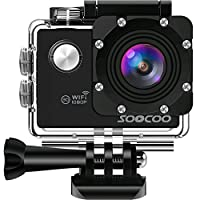 """WIFI Action Camera, SOOCOO Sports Video Camera Waterproof 12MP Full HD 1080P 2.0"""" LCD 170 degree Wide Angle, 30M/98ft Underwater Diving Camera Camcorder with 2 Batteries (SD Card Not Included)-Black"""