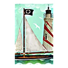 Sailing Summer Garden Flag Nautical Lighthouse decorative flags initial flags party flags 28 x 40 Inch Double Sided banner home flags Print flags