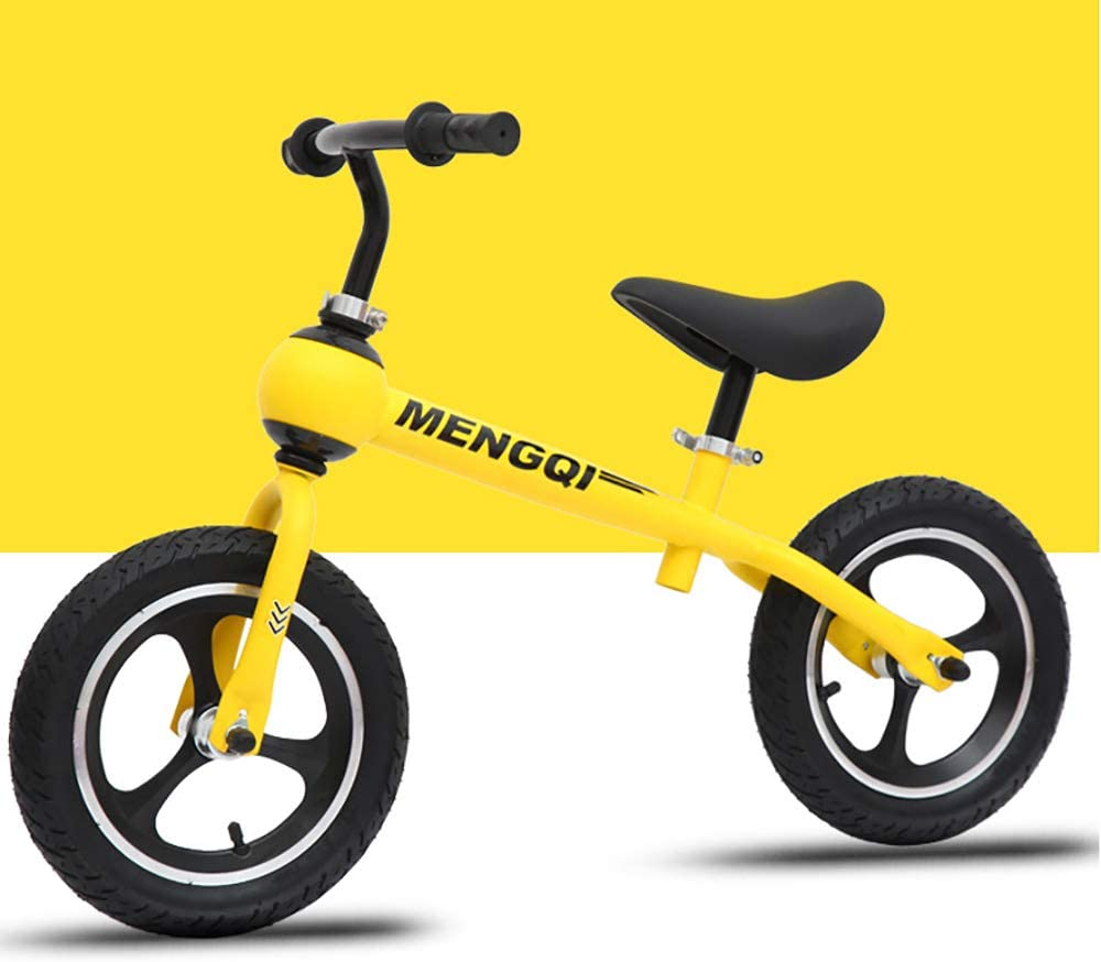 WANGYA Bicicleta Sin Pedales para NiñOs,Sin Pedal Bicicleta Dos Rondas ProteccióN del Medio Ajustable Ambiente DiseñO De Seguridad Material No TóXico DiseñO Elegante, Yellow: Amazon.es: Deportes y aire libre